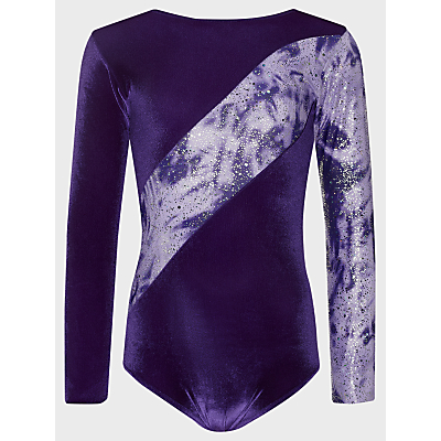 Tappers and Pointers Shine Panel Gym Leotard, Purple/Lilac
