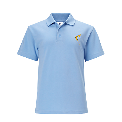 Thomson House School Unisex Polo Shirt, Sky Blue