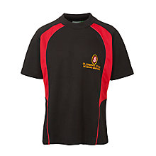 Buy St Joseph's College Boys' Sports T-Shirt, Black/Red Online at johnlewis.com