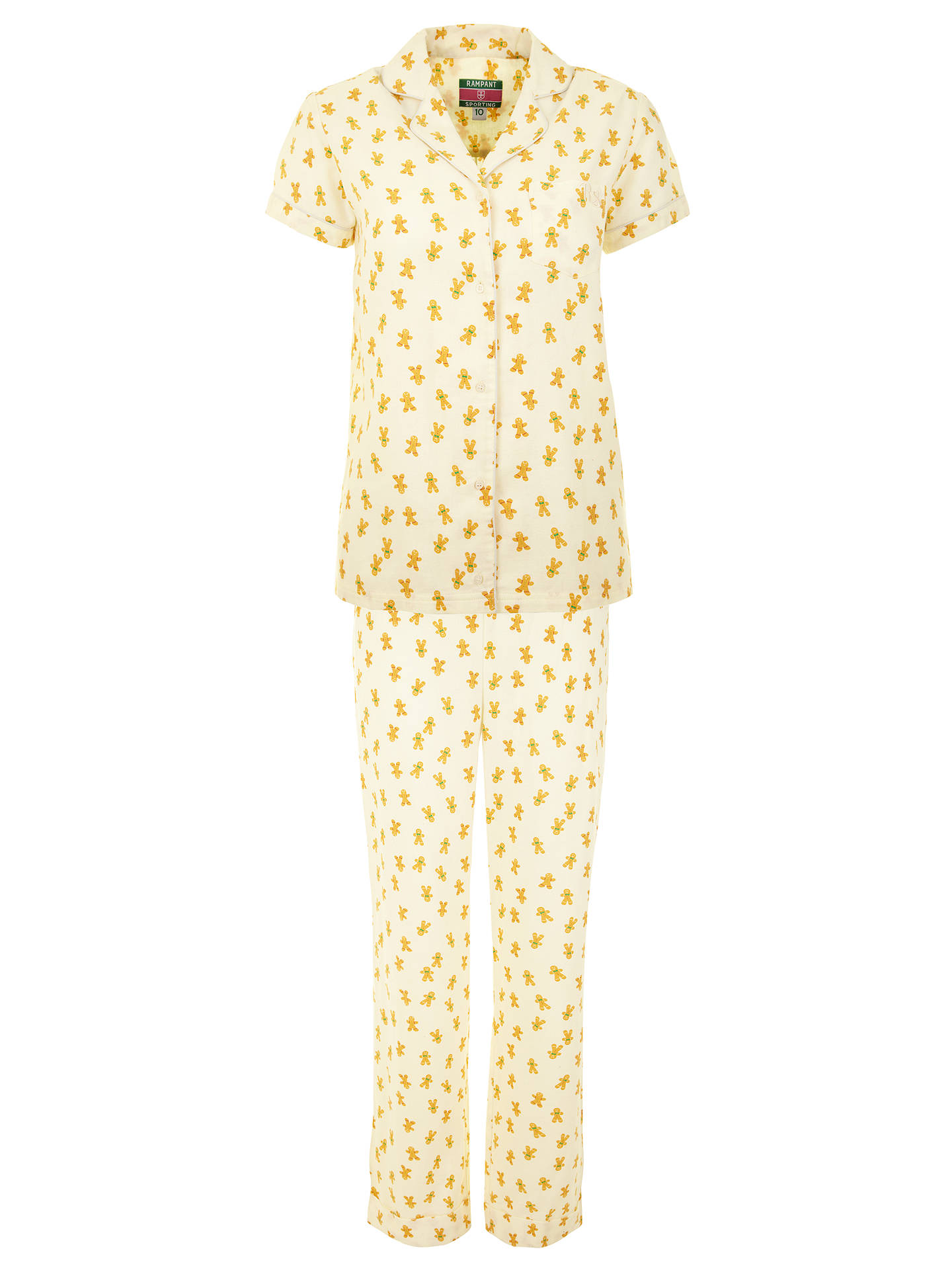 Buy Rampant Sporting Gingerbread Pyjama Set, Multi, 8 Online at johnlewis.com