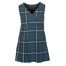 Buy St Bernard's Preparatory School Girls' Tartan Tunic, Blue/Green Online at johnlewis.com