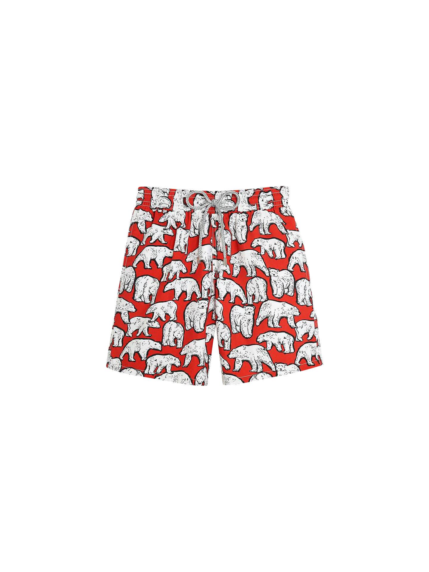 efe40d697f Buy Vilebrequin Polar Bear Print Swim Shorts, Red/White, L Online at  johnlewis