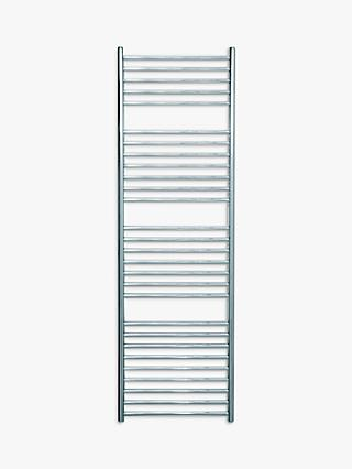 John Lewis & Partners Brook Central Heated Towel Rail and Valve, from the Floor