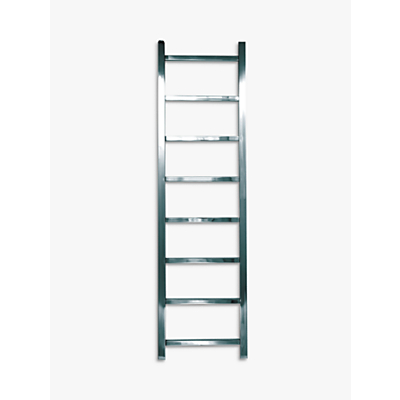 John Lewis & Partners Peel 1250 Central Heated Towel Rail and Valves, from the Wall
