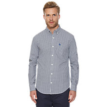 Buy Original Penguin Gingham Check Shirt, Dark Sapphire Online at johnlewis.com