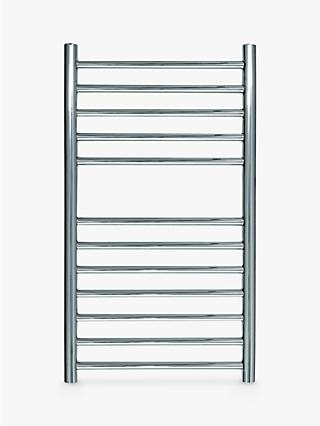 John Lewis & Partners St Ives Dual Fuel Heated Towel Rail and Valves, from the Wall