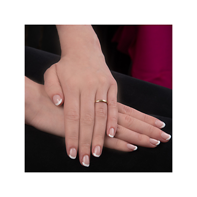Image of EWA 18ct Yellow Gold 2.5mm Court Wedding Ring, Yellow Gold
