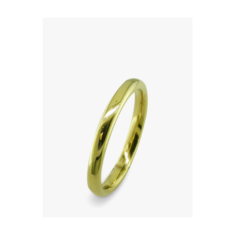 Ruby Wedding Gifts John Lewis: EWA 18ct Yellow Gold 2.5mm Court Wedding Ring, Yellow Gold