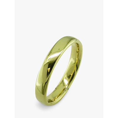 Image of EWA 18ct Yellow Gold 4mm Larger Sized Court Wedding Ring, Yellow Gold