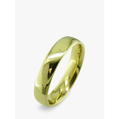 Image of EWA 18ct Yellow Gold 5mm Larger Sized Court Wedding Ring, Yellow Gold