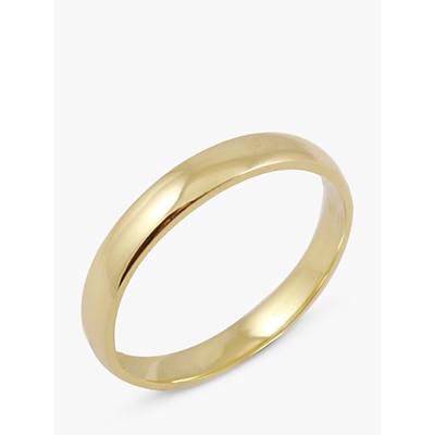 Image of EWA 18ct Yellow Gold 3mm Court Wedding Ring, Yellow Gold