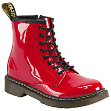 Buy Dr Martens Delaney Patent Boots, Red Online at johnlewis.com
