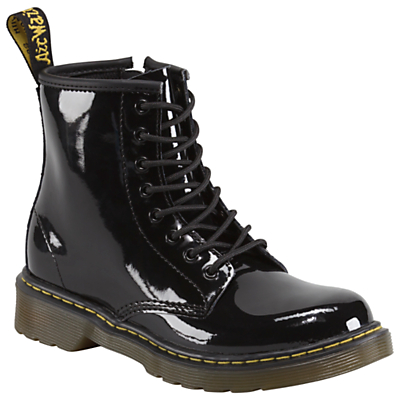 Dr Martens Brooklee Patent Leather Boots, Black