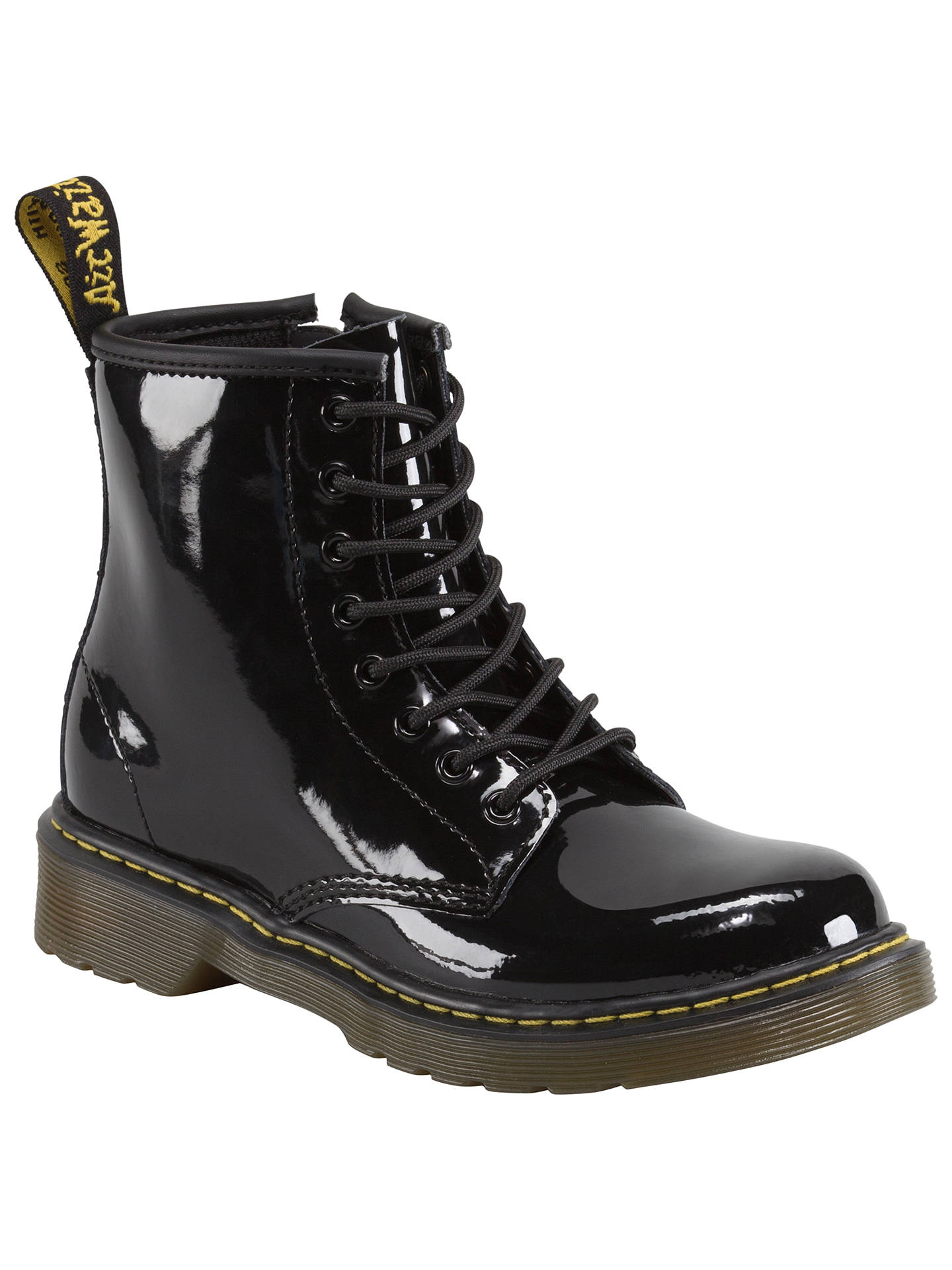 genuine shoes detailed pictures new photos Dr Martens Children's Delaney Patent Boots at John Lewis ...