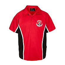 Buy Davenant Foundation School Unisex Sports Polo Shirt, Red/Black Online at johnlewis.com