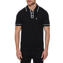 Buy Original Penguin Earl Polo Shirt, True Black Online at johnlewis.com
