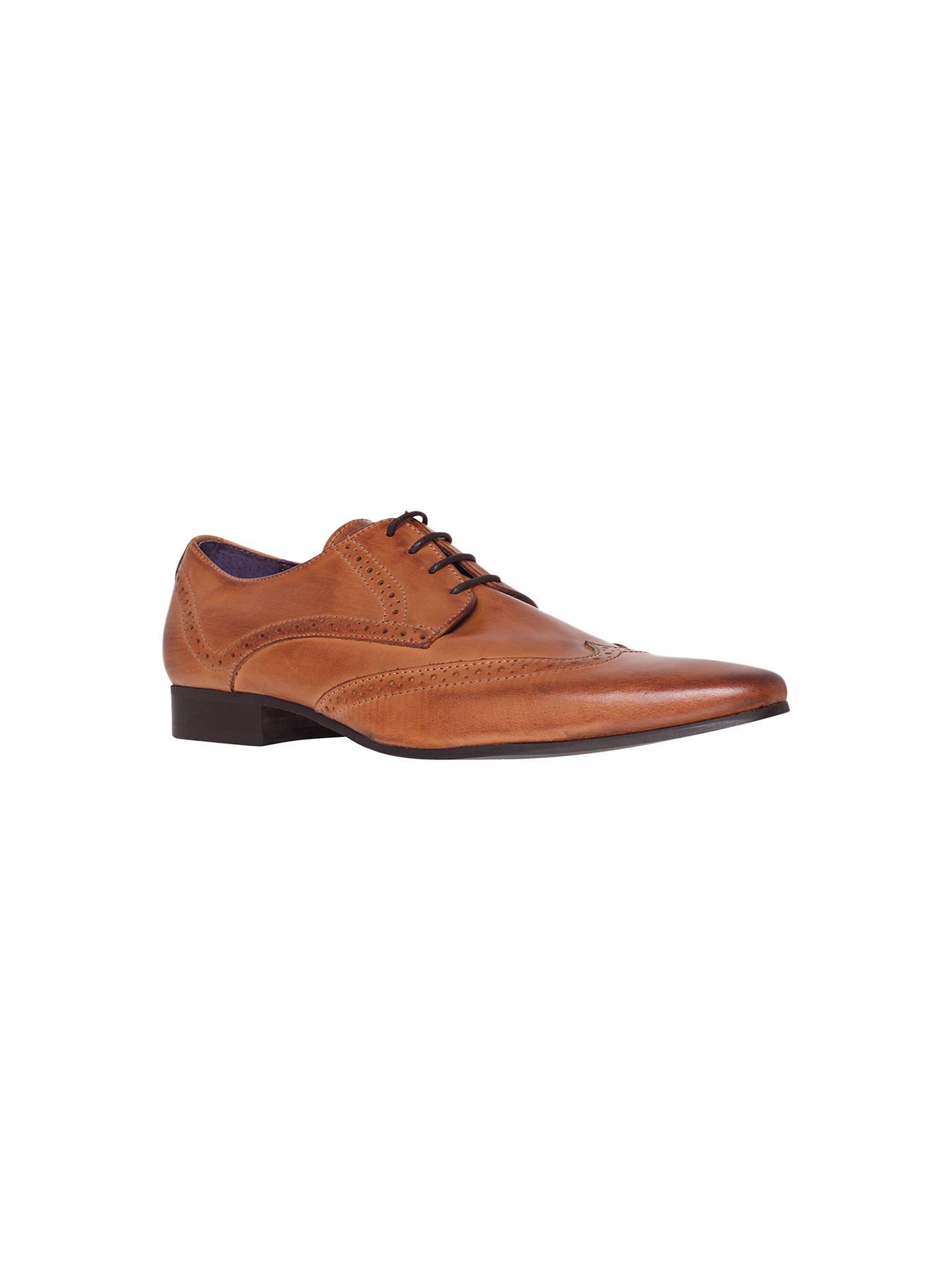 12cebebae0858c Buy KG by Kurt Geiger Jake Wingtip Leather Brogue Derby Shoes, Tan, 41  Online ...