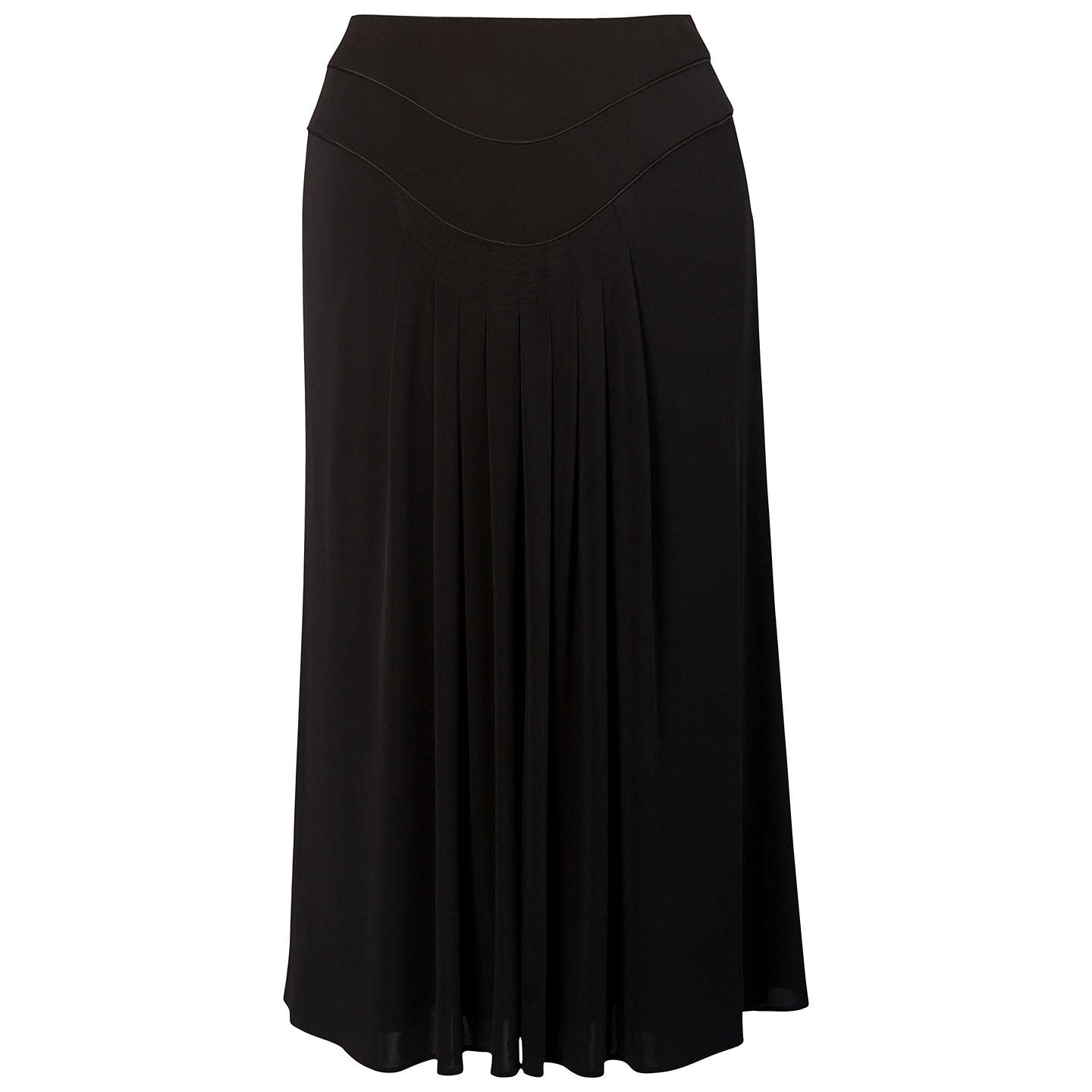 BuyChesca Piping Trim Tuck Detail Jersey Skirt, Black, 12 Online at johnlewis.com