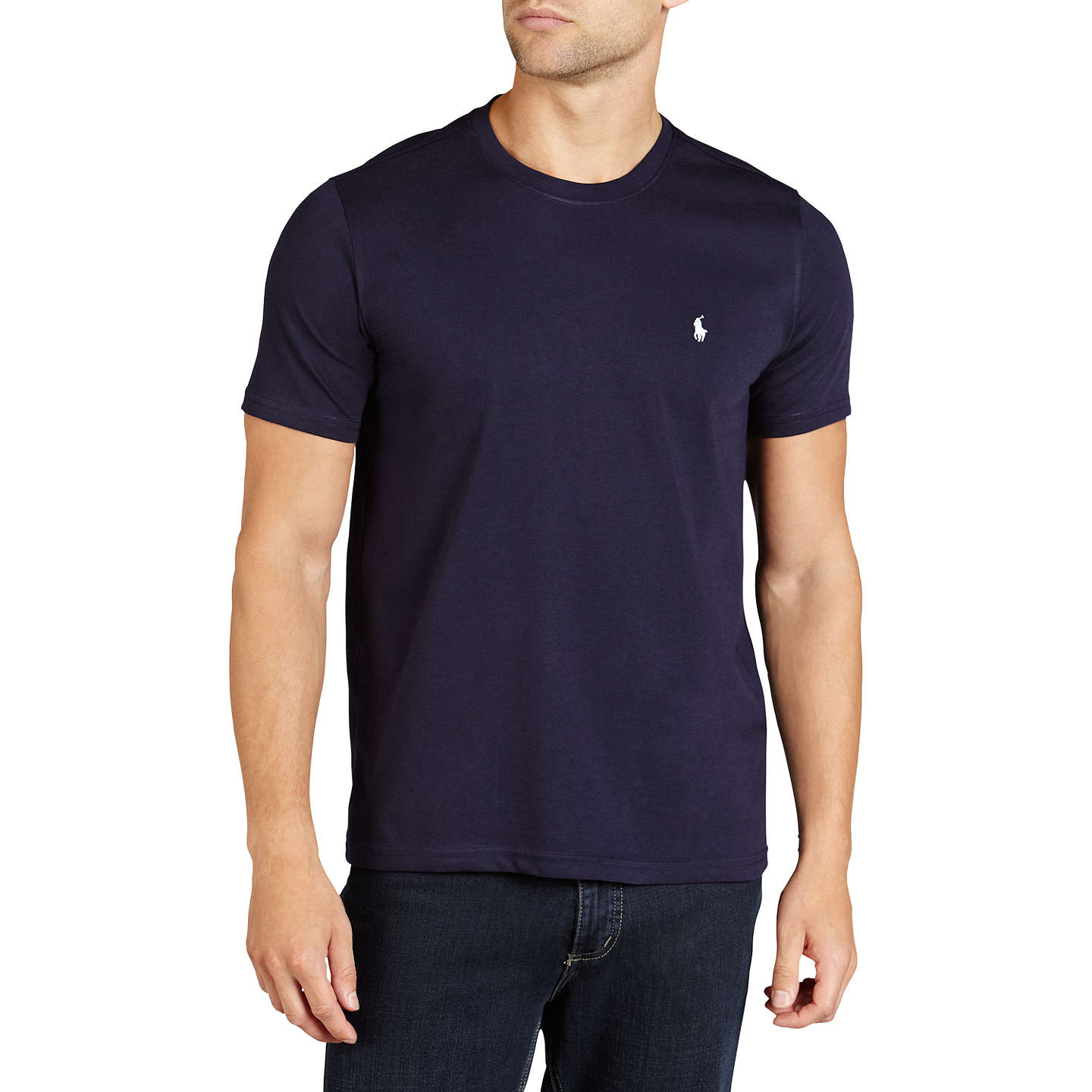 polo ralph lauren crew neck lounge t shirt navy at john lewis. Black Bedroom Furniture Sets. Home Design Ideas