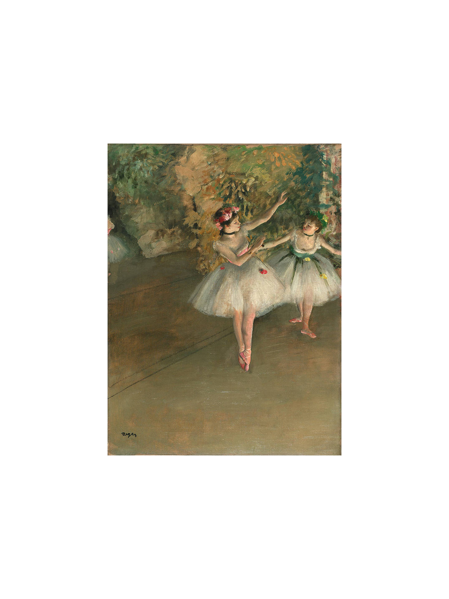 Buy The Courtauld Gallery, Edgar Degas - Two Dancers on a Stage 1874 Print, Stretched Canvas, 50 x 40cm Online at johnlewis.com