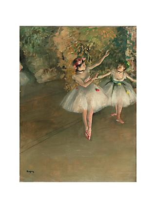 The Courtauld Gallery, Edgar Degas - Two Dancers on a Stage 1874 Print