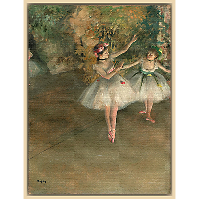 The Courtauld Gallery, Edgar Degas – Two Dancers on a Stage 1874 Print