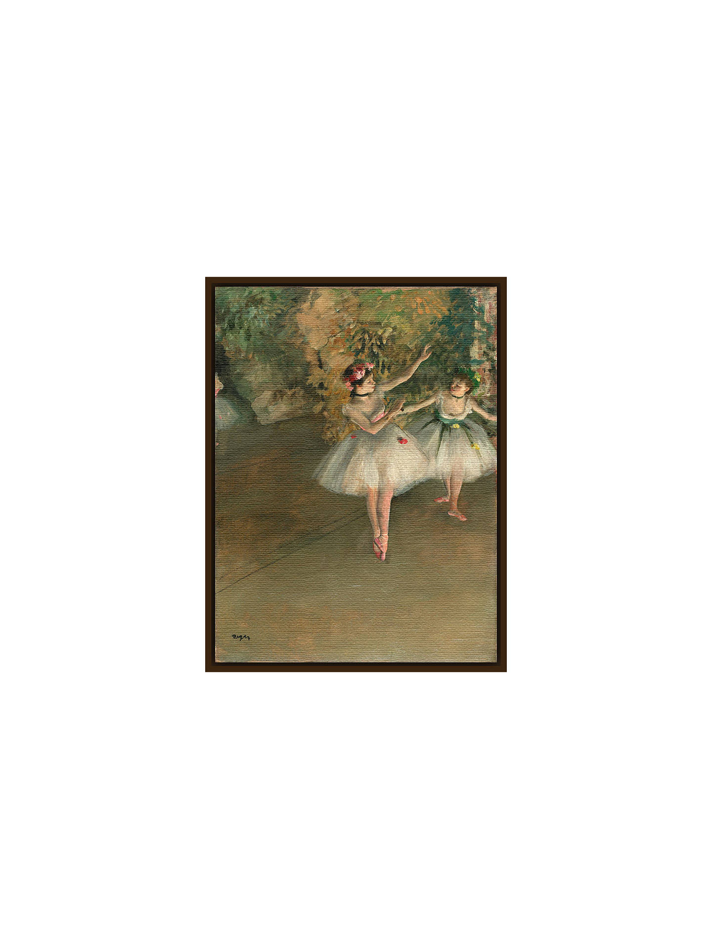 BuyThe Courtauld Gallery, Edgar Degas - Two Dancers on a Stage 1874 Print, Dark Brown Framed Canvas, 50 x 40cm Online at johnlewis.com