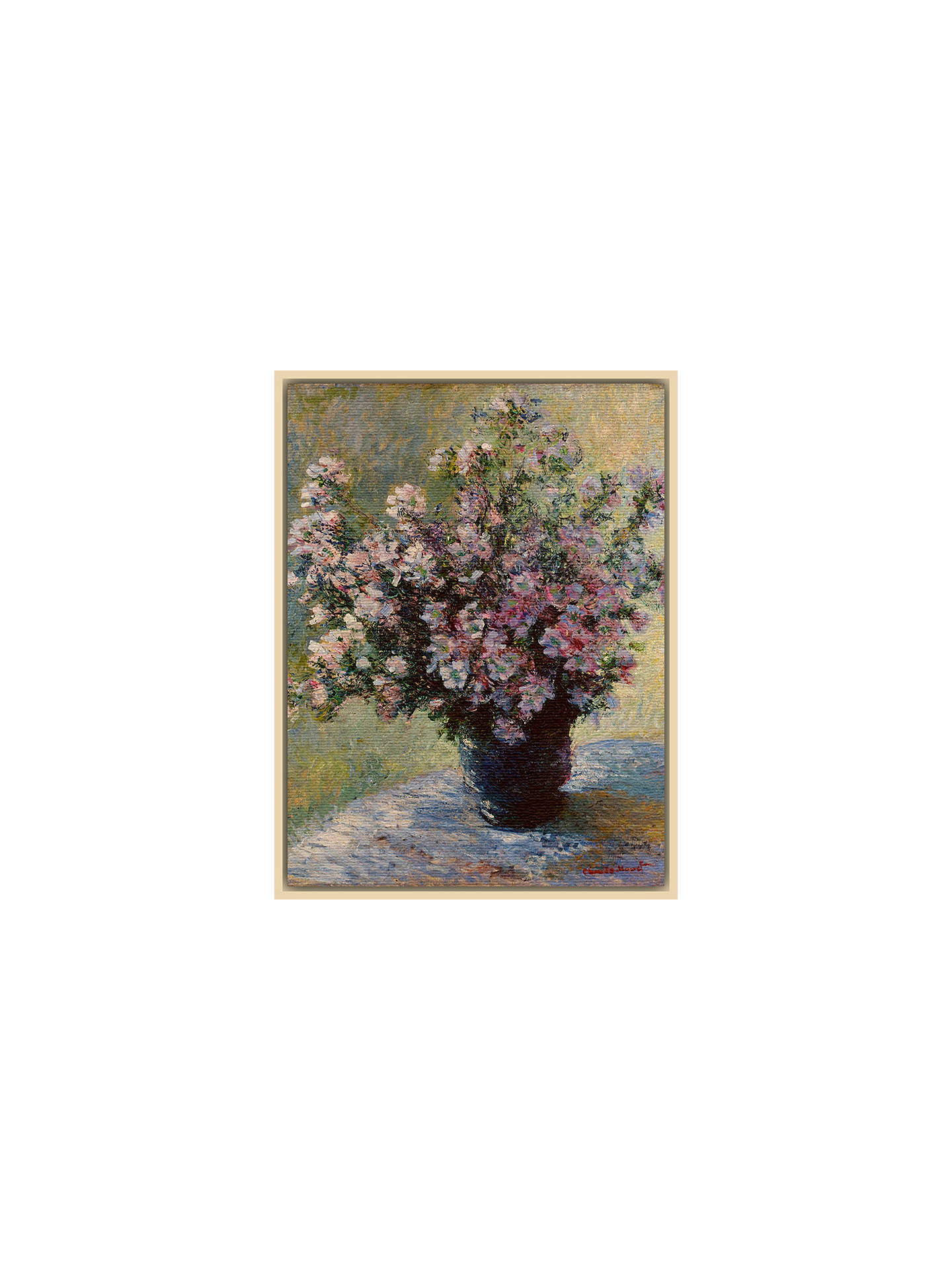 BuyThe Courtauld Gallery, Claude Monet - Vase of flowers 1881-2 Print, Natural Ash Framed Canvas, 80 x 60cm Online at johnlewis.com