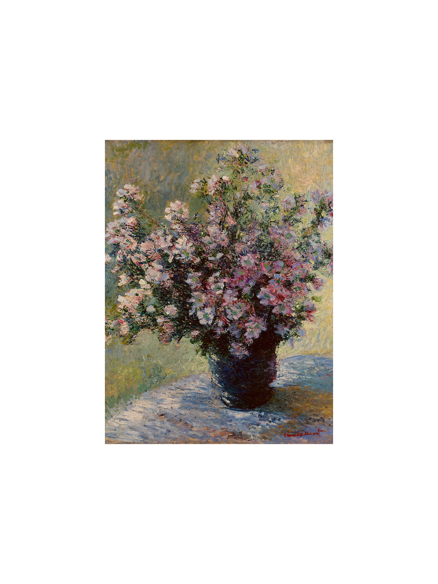 BuyThe Courtauld Gallery, Claude Monet - Vase of flowers 1881-2 Print, Stretched Canvas, 50 x 40cm Online at johnlewis.com