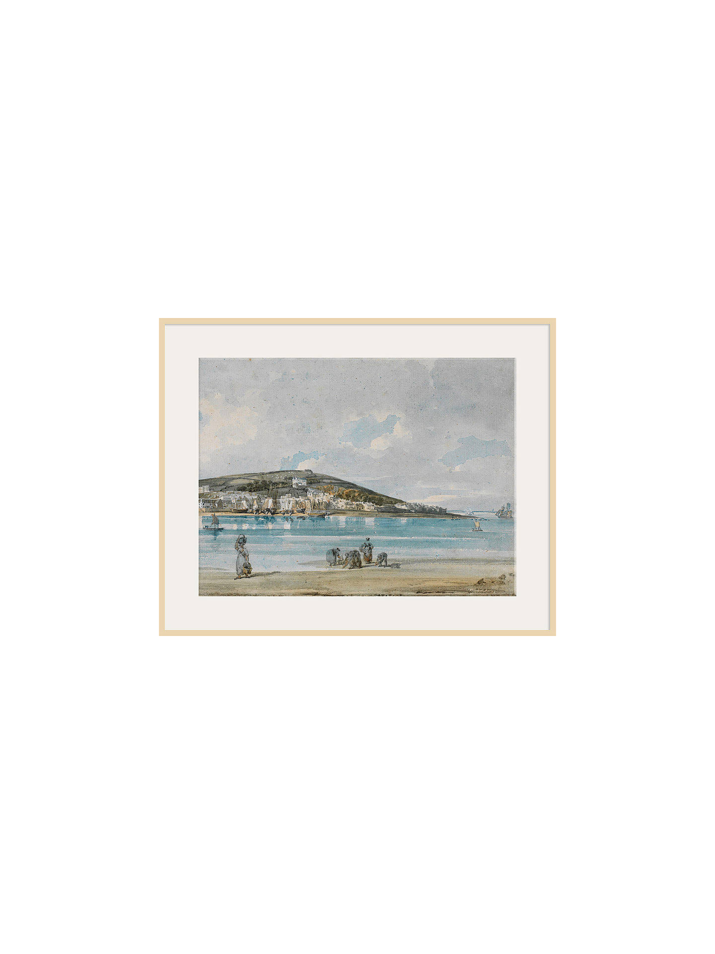 BuyThe Courtauld Gallery, Thomas Girtin - View of Appledore, North Devon, from Instow Sands 1798 Print, Natural Ash Framed Print, 40 x 50cm Online at johnlewis.com