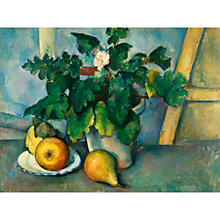 Buy The Courtauld Gallery, Paul Cézanne - Pot of Primroses and Fruit 1888-1890 Print Online at johnlewis.com