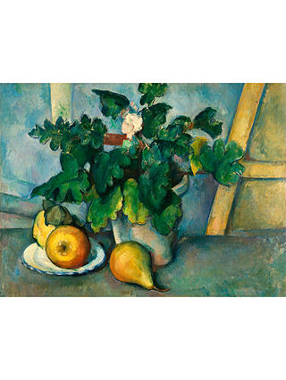 Buy The Courtauld Gallery, Paul Cézanne - Pot of Primroses and Fruit 1888-1890 Print, Stretched Canvas, 60 x 80cm Online at johnlewis.com