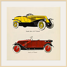 Buy The Courtauld Gallery, Gazette du Bon Ton - No10 1924 Automobiles Renault Print Online at johnlewis.com