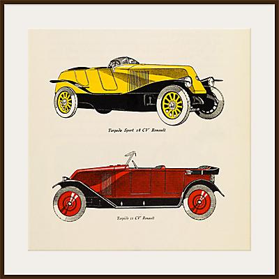 The Courtauld Gallery, Gazette du Bon Ton – No10 1924 Automobiles Renault Print