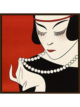 The Courtauld Gallery, Gazette du Bon Ton - No 6 1921 Cecla Pearls Detail Print