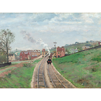 The Courtauld Gallery, Camille Pissarro – Lordship Lane Station, Dulwich, 1871 Print