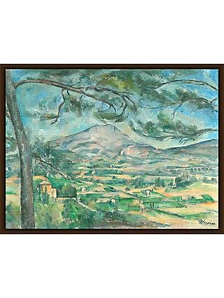 The Courtauld Gallery, Paul Cézanne -The Montagne Sainte-Victoire with Large Pine Circa 1882 Print