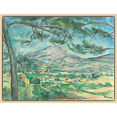 The Courtauld Gallery, Paul Cézanne -The Montagne Sainte-Victoire with Large Pine Circa 1882 Print