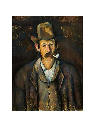 The Courtauld Gallery, Paul Cézanne - Man with a Pipe 1892-1895 Print