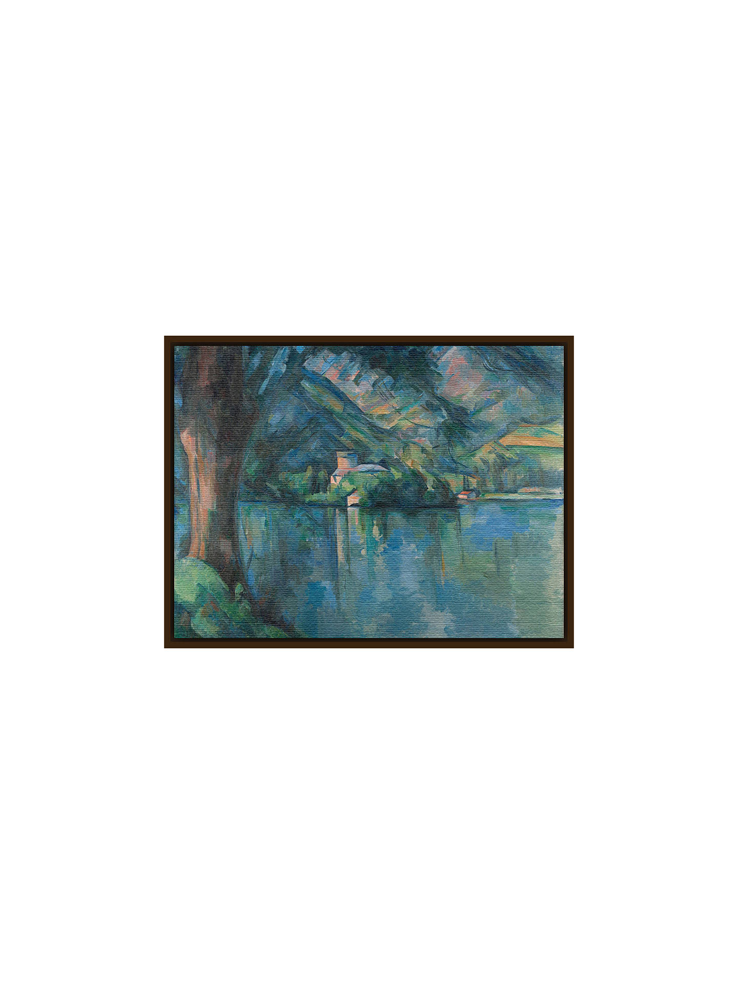 Buy The Courtauld Gallery, Paul Cézanne - Lac d'Annecy 1896 Print, Dark Brown Framed Canvas, 40 x 50cm Online at johnlewis.com