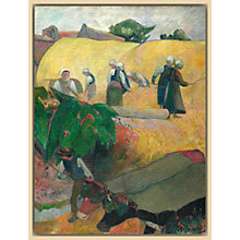 Buy The Courtauld Gallery, Paul Gauguin - Haymaking 1889 Print Online at johnlewis.com