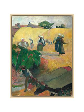 The Courtauld Gallery, Paul Gauguin - Haymaking 1889 Print