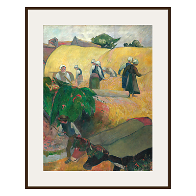 The Courtauld Gallery, Paul Gauguin – Haymaking 1889 Print