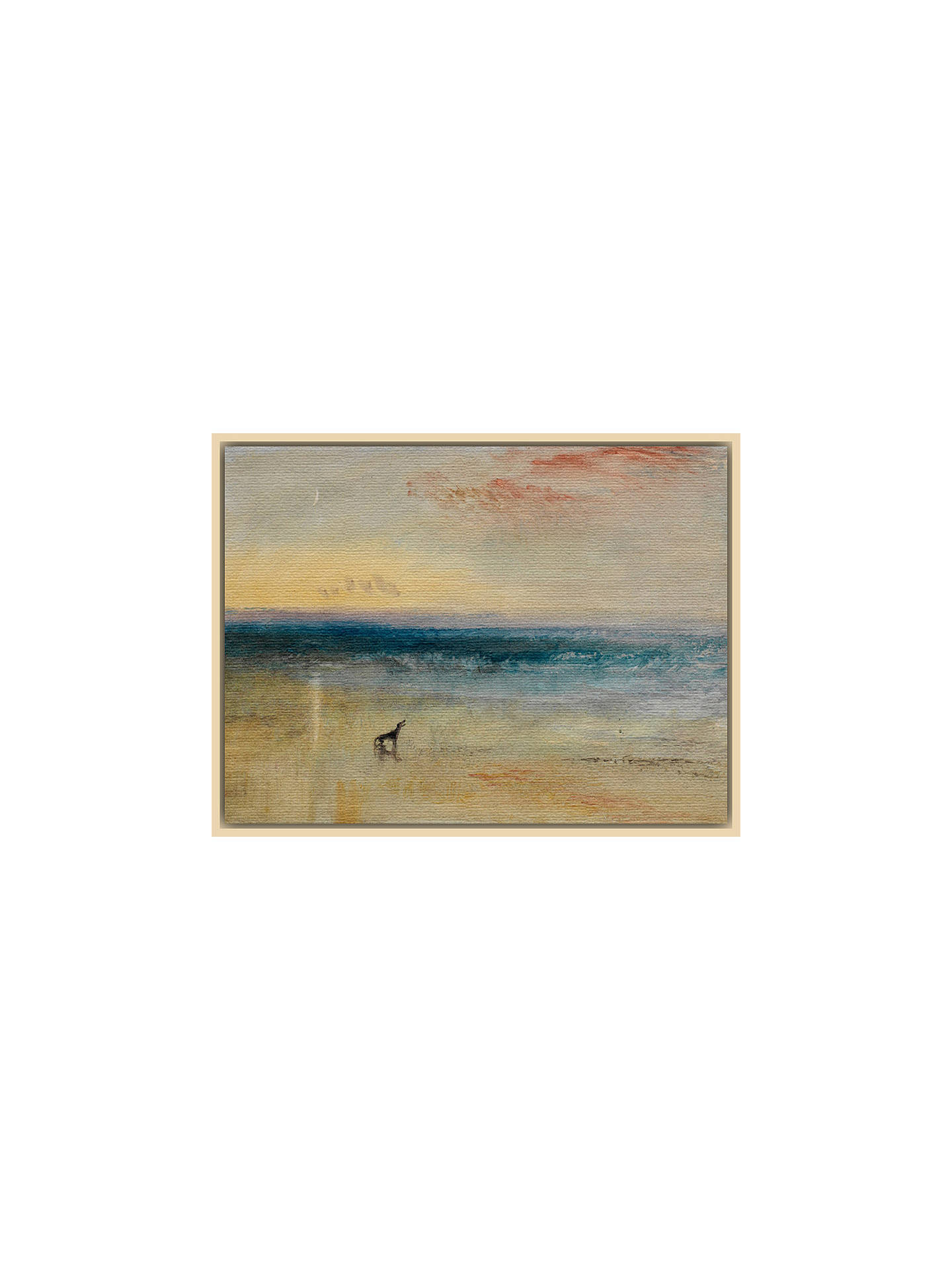 BuyThe Courtauld Gallery, Joseph Mallord William Turner - Dawn After the Wreck Circa 1841 Print, Natural Ash Framed Canvas, 60 x 80cm Online at johnlewis.com