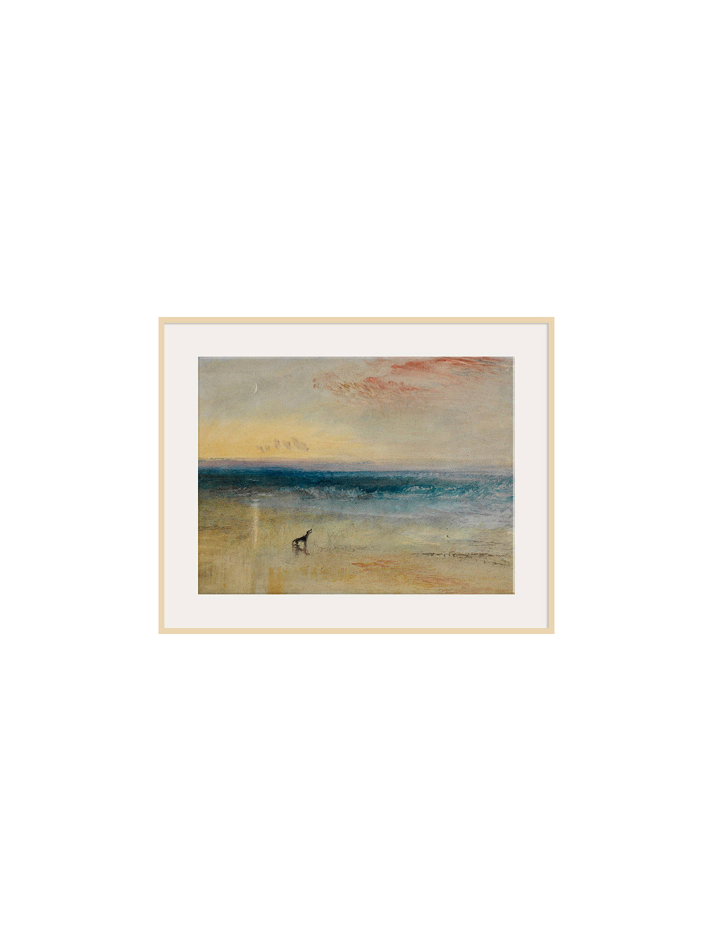 BuyThe Courtauld Gallery, Joseph Mallord William Turner - Dawn After the Wreck Circa 1841 Print, Natural Ash Framed Print, 60 x 80cm Online at johnlewis.com