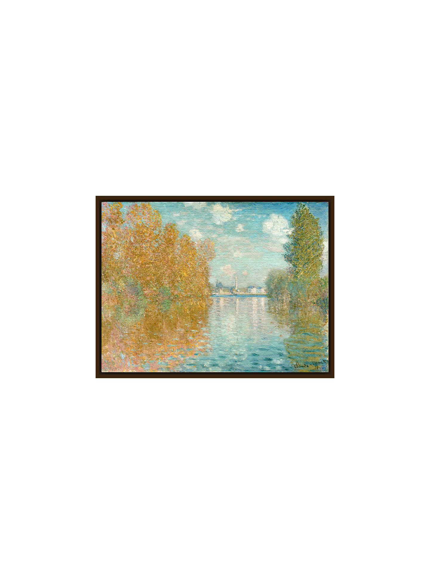 BuyThe Courtauld Gallery, Claude Monet - Autumn effect at Argenteuil 1873 Print, Dark Brown Framed Canvas, 60 x 80cm Online at johnlewis.com