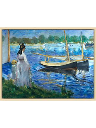 The Courtauld Gallery, Edouard Manet - Banks of the Seine at Argenteuil 1874 Print