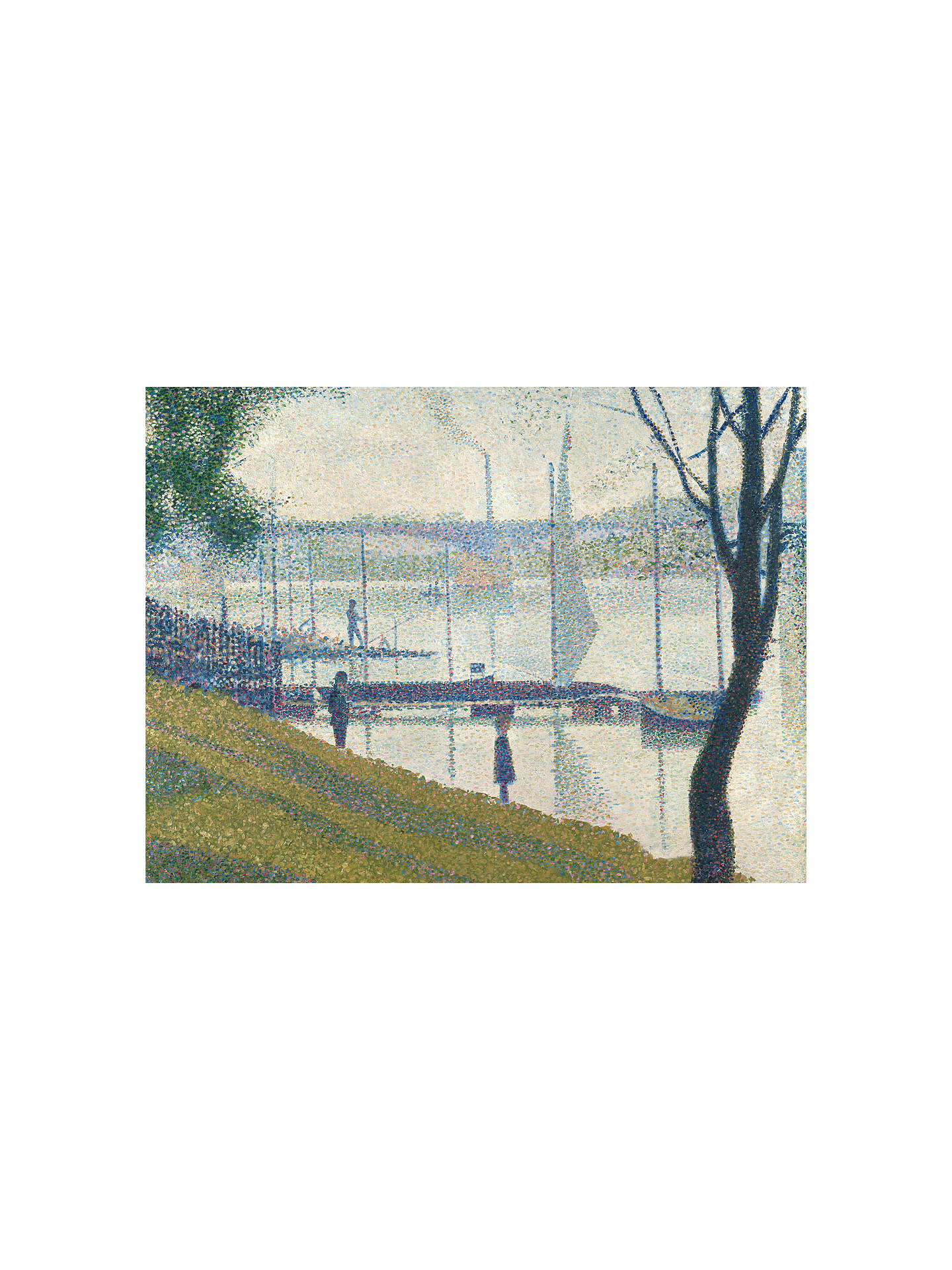 Buy The Courtauld Gallery, Georges Seurat - Bridge at Courbevoie 1886-1887 Print, Stretched Canvas, 40 x 50cm Online at johnlewis.com