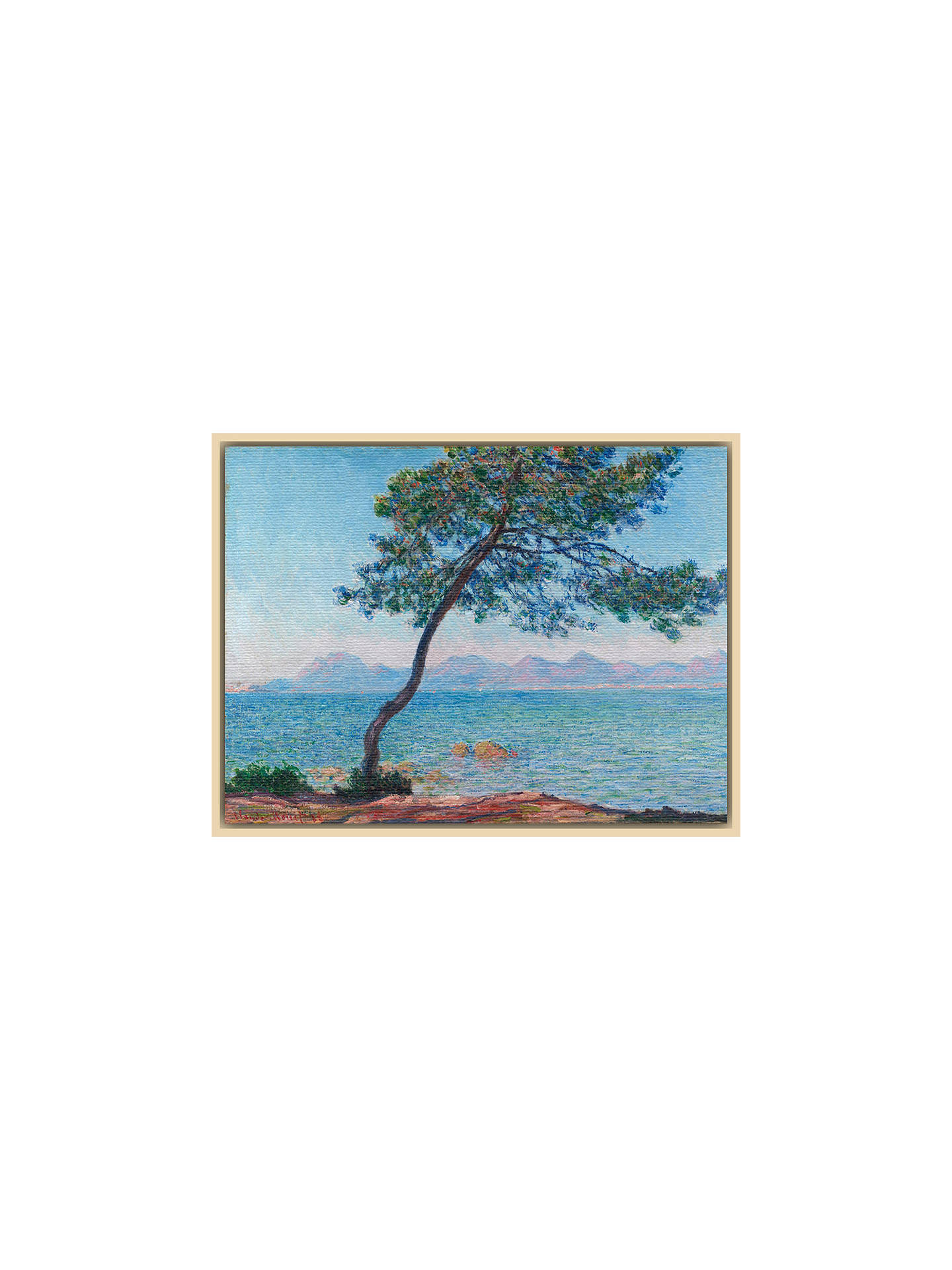 Buy The Courtauld Gallery, Claude Monet - Antibes 1888 Print, Natural Ash Framed Canvas, 40 x 50cm Online at johnlewis.com