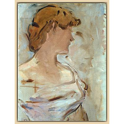 The Courtauld Gallery, Edouard Manet – Au Bal – Marguerite de Conflans en Toilette de Bal 1887-1880 Print
